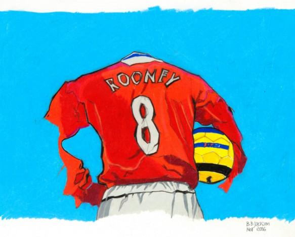 Footballer No8 Rooney