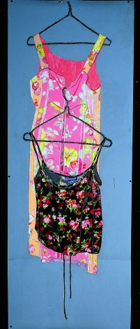 A Pink Frock Black Top